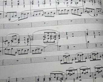 Antique Sheet Music Book, 1923 Buxtehude, German Baroque songs, Organ Church Music, Religious Music, Pianist Gift, Piano music book