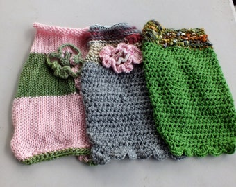 Dog Sweaters set of three  Chihuahua 11 inches long