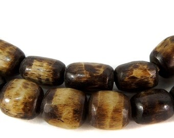 Bone Trade Beads Brown Kenya Africa 98881