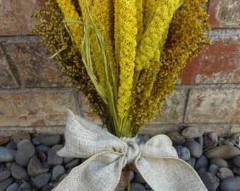Wedding Bouquet  Dried Bouquet  Autumn Bouquet  Preserved Bouquet  Chinese  Millet Wedding Bouquet  Golden Rod