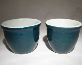 Pair of Shenango Custard Cups - 1 and 1 1/4