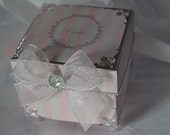 Elegant Pink and silver small gift box with bling, party favor, can be customized
