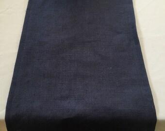 Burlap Table Runner, Navy Blue Burlap Runner, use for Wedding, Shower, Party, Home Decor, Custom Sizes Available