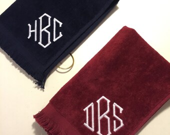 one personalized golf towel with grommet