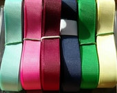 "5/8"" grosgrain ribbon set of 6 colors 5 yards each"