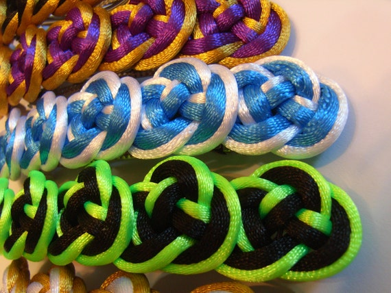 Chinese Knot (double coin knot) Hair Barrette - choose your color