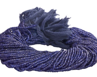 Iolite Faceted Beads 3.5 TO 4.5 MMSold per 14-inch strand AAA Quality