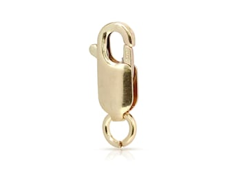 Gold Lobster 14Kt Gold Filled 11.7mm Straight Lobster with Open Jump ring - 50pcs Wholesale price (2221)/25