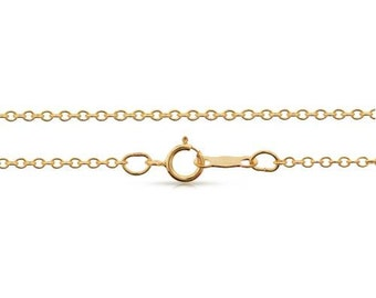 Finished Chains with spring ring clasp 14Kt Gold Filled 1.5x1.5mm 22 Inch Cable Chain - 1pc (8118)/1
