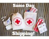 Bachelorette Party Favors - Bachelorette Hangover Kit Bags - Hangover Kit Party Favors - READY TO SHIP