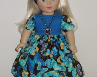 """OOAK doll clothes for 18"""" American Girl sized doll - """" My Butterfly"""""""