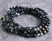 Bohemian Wrap Bracelet, Beaded Wrap Bracelet, Stacked Bracelet Set, Seed Bead Bracelet Wrap, Summer Jewelry for Her, Handmade Bracelet