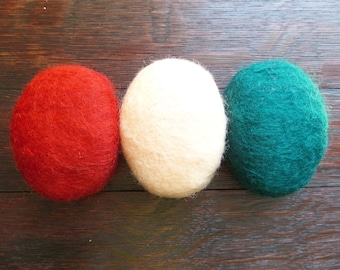 Felted Soap Set with Scottish Wool, Bath Gift, Red, Green, Pink Set of 3 Bath Soap, Gift from Scotland