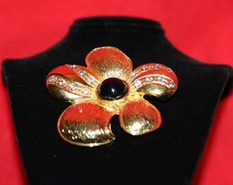 ANTIQUE BROOCH Vintage Family Heirloom Jewelry Bridal Gift Wedding Present Scarf Sweater Pin Rhinestones Hollywood Regency Jewelry