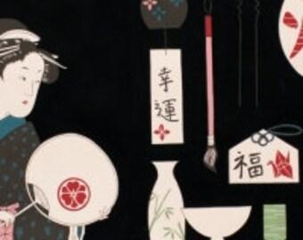 Japanese Kimono Robe.  Geisha Girl Kimono Robe. Kimono Robe. Kimono. Black Kimono Robe. Small thru Plus Size Kimono 2XL.