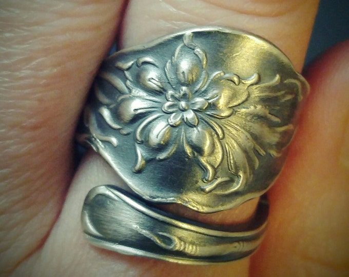 Unger Bros Narcissus Flower, Daffodil Ring, Sterling Silver Spoon Ring, Daffodil Jewelry, Wedding Ring Alternative, Custom Ring Size (6142)