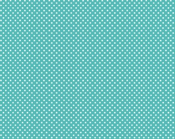 Basic Pin Dots in Aqua by In The Beginning Fabrics