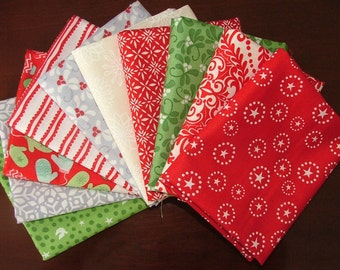 In From the Cold, Joy, and Solstice Fat Quarter Bundle of 10 by Kate Spain for Moda LAST ONE