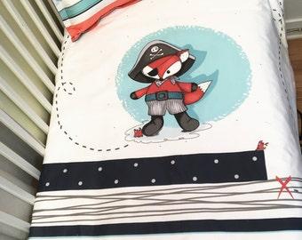 baby bedding ,pirate,fox,nursery