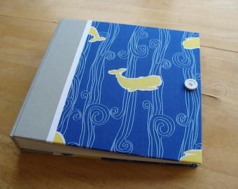 Baby Whale Scrapbook/ Photo Album/ Baby Book