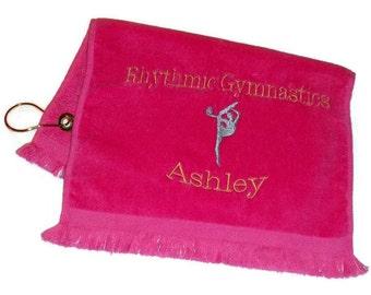 Sports towel Rhythmic gymnast with ball