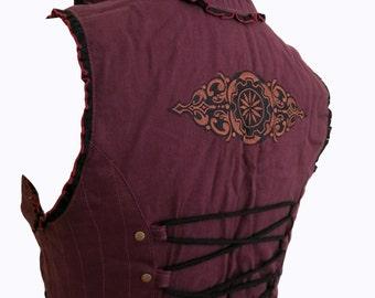 Women's Belly Dancer's Waistcoat PLUM
