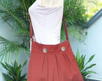 Summer Sale 10% off red cotton canvas travel bag / shoulder bag / messenger bag / diaper bag / cross body bag, zipper closure