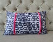 Vintage Hmong Cotton cushion cover, Handwoven Cotton Fabric,Scatter cushions