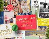 2016 Christmas cards templates bundle