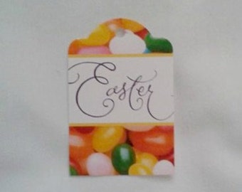 Up Cycled OOAK Easter / Jelly Beans Gift Tags... Set of 4