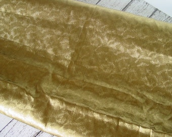 RARE Antique 1920s Gold Metallic Heavy Lame Fabric from France