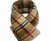 Extra Long Microwave Neck Heat Wrap,London Plaid Camel, 26x5, Neck Heating Pad, Shoulder, Neck Shoulder Pack, Rice, Anti-pil Fleece Cover