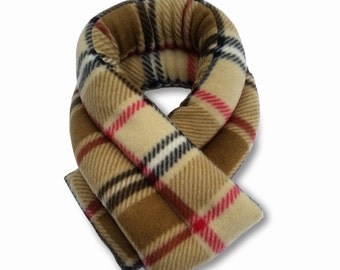 Extra Long Microwave Neck Heat Wrap,London Plaid Camel, 26x5, Neck Heating Pad, Shoulder, Neck Shoulder Pack, Rice, Anti-pil Fleece Cover