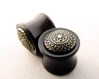 Wood Plugs, Wooden Plugs, Mandala Plugs, Saddle Plugs, Body Jewelry, Ear Stretchers, Body Mods, Body Modification