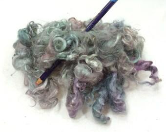 Wool Locks, Hand Dyed, Spin, Felt, Weaving
