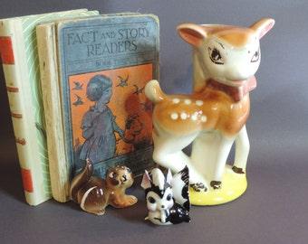 Vintage Deer Lamp Base Bambi Ceramic Deer Big Eyed Deer Doe Buck Fawn Deer Woodland Animal Childs Room