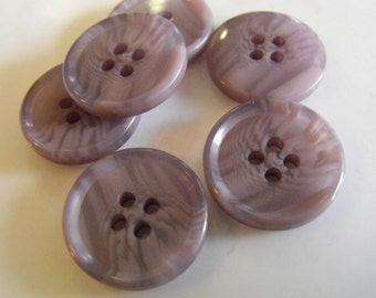 11 Ash Gray Swirly Round Buttons Size 3/4""