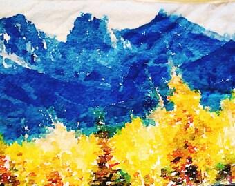 Three Sisters Mountains Art blanket- Large