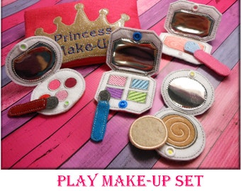 In the Hoop Princess Play Make Up Embroidery Machine Design Set