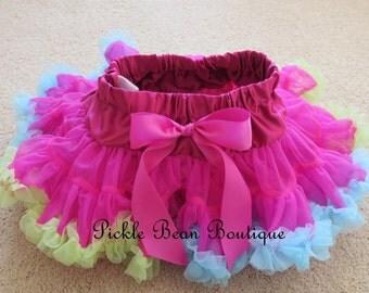 Raspberry Pettiskirt - Ready To Ship - 1st Birthday Tutu - Petti Skirt Tutu - Baby Girl 1st Birthday Outfit - Girls First Birthday Outfits