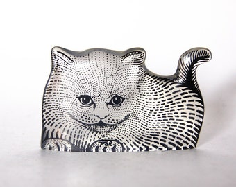 Modernist Brasilian Abraham Palatnik Lucite Cat Kitten Figurine - Rare