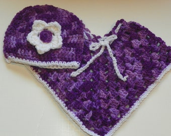 Shades of Purple  Poncho Set