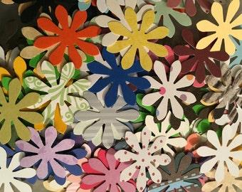 50 Mini paper flowers