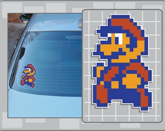 SUPER MARIO 8Bit Sprite Vinyl Decal No. 4 from Super Mario Bros. 2 NES Sticker