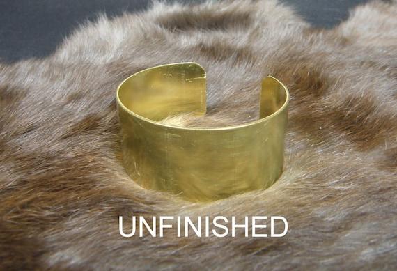 """1"""" x 6""""  20 gauge .032 Brass Cuff bracelet blank unfinished"""