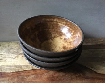 Stoneware Bowls - Handmade Pottery Bowl Set - Ceramic Salad Bowl Set - Modern Rustic Ceramic Bowls - Snack Bowl Set of 4