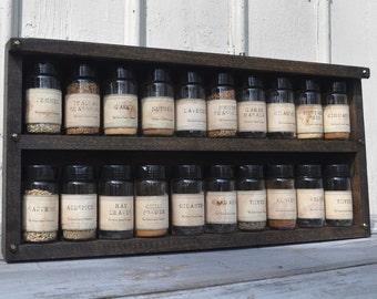 Rustic Spice Shed Spice Rack