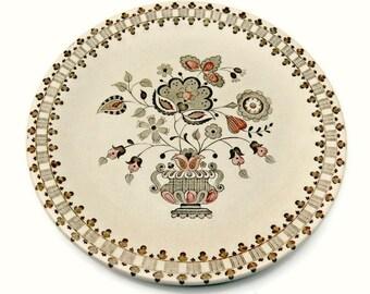 Johnson Brothers Old Granite Dinner Plate - Vintage Jamestown Brown Transferware Staffordshire Stoneware England