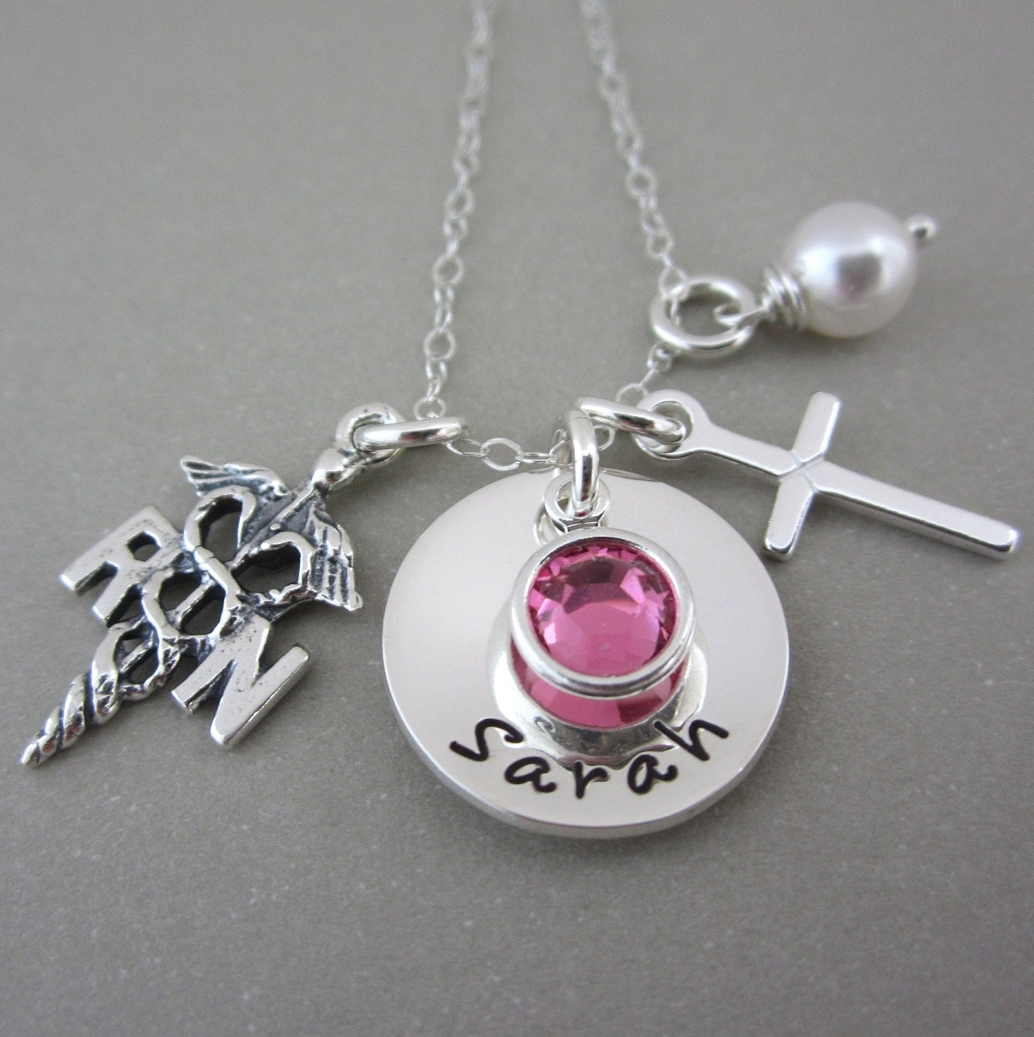 rn lpn personalized jewelry by shinymetals