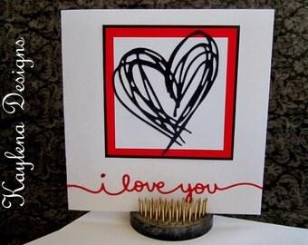I Love you Blank greeting card